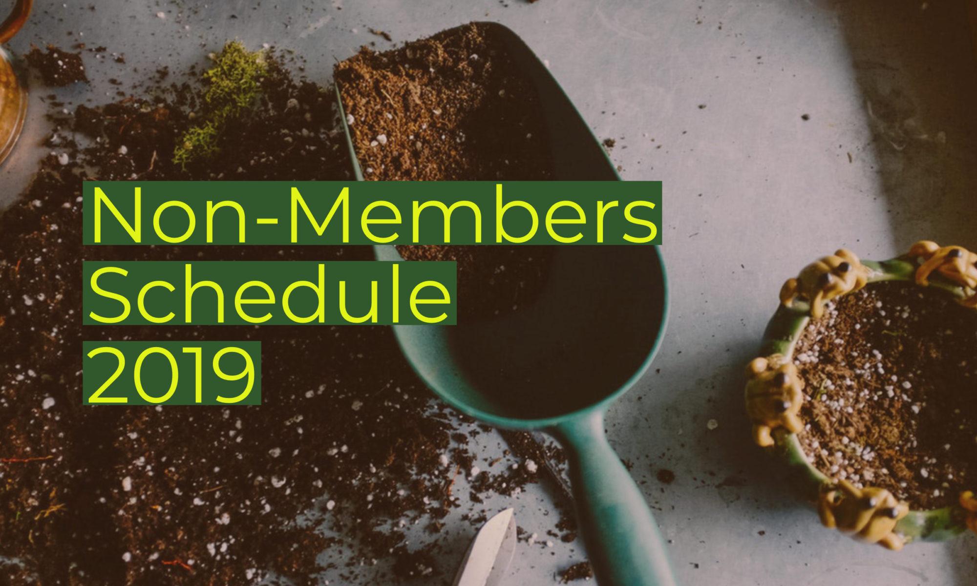 Non-Members Schedule